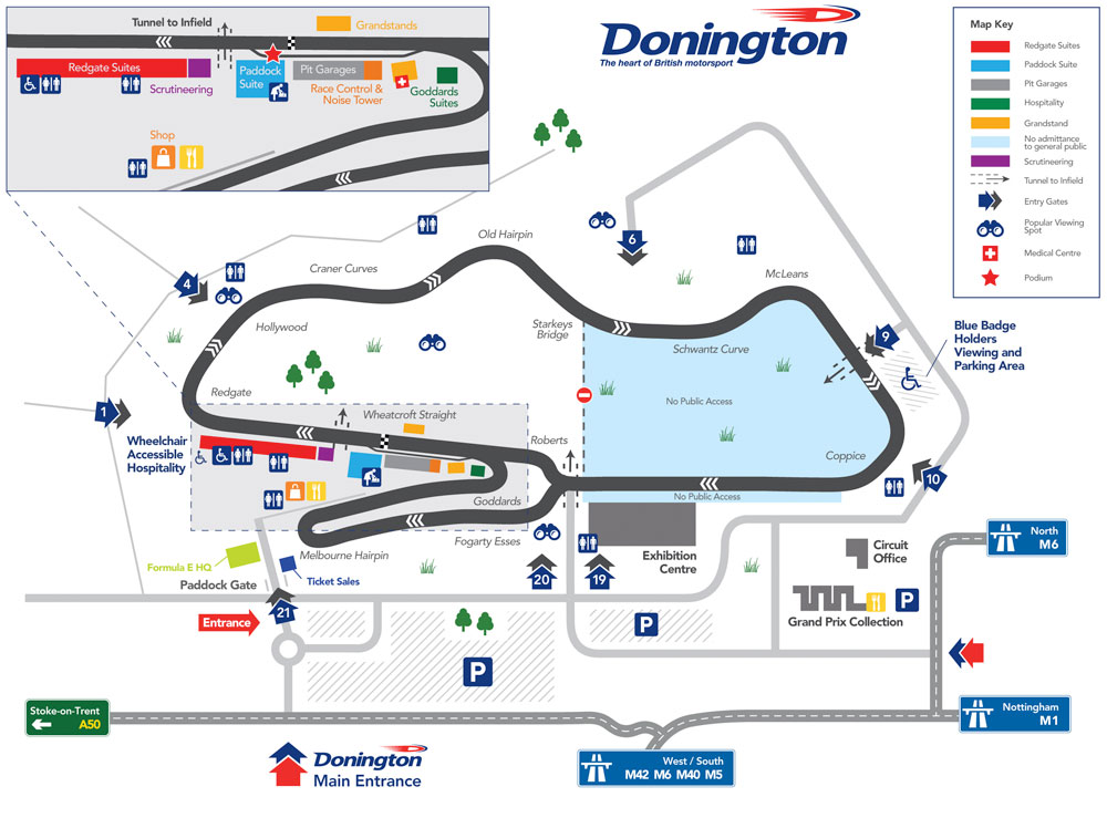 Donington Park circuit plan